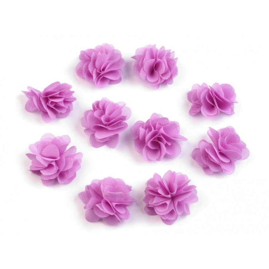 Zwiewne kwiatki 30mm FIOLETOWE - 10szt