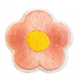 Naprasowanki wyszywany kwiat - 10szt - łososiowy