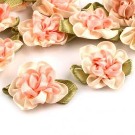 Kwiatki satynowe 22x35 mm - 10szt