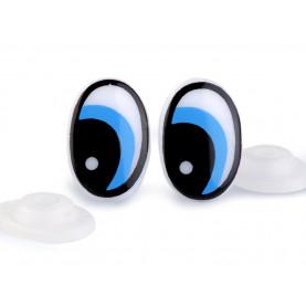 Oczy plastikowe z zatyczką 14x22mm - 4szt
