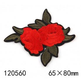 Róże Z LIŚĆMI 02 - Naprasowanka, 65x80mm