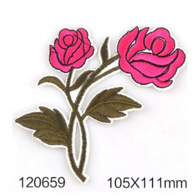 Róże Różowe - Naprasowanka, 105x111mm
