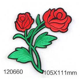 Róże CZERWONE - Naprasowanka, 105x111mm