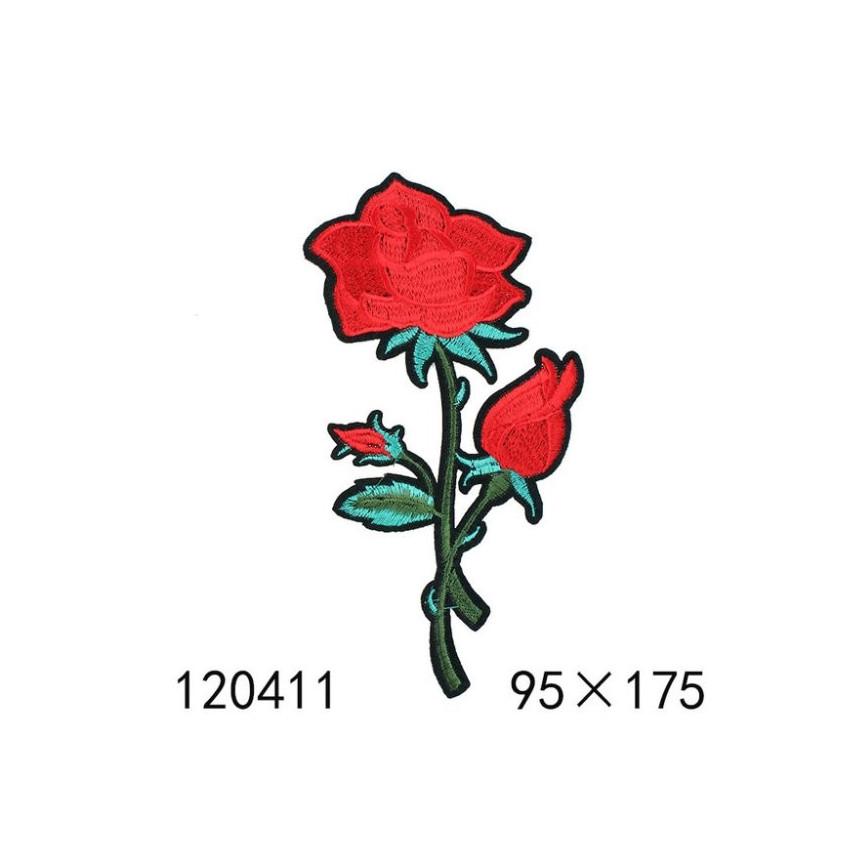 DWIE RÓŻE 01 - Naprasowanka, 72x131mm