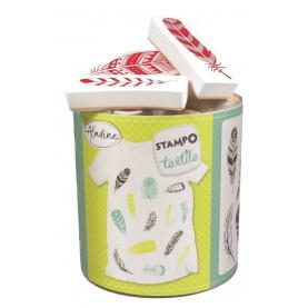 STEMPLE DO TKANIN - Pióra / malowanie na tkaninie
