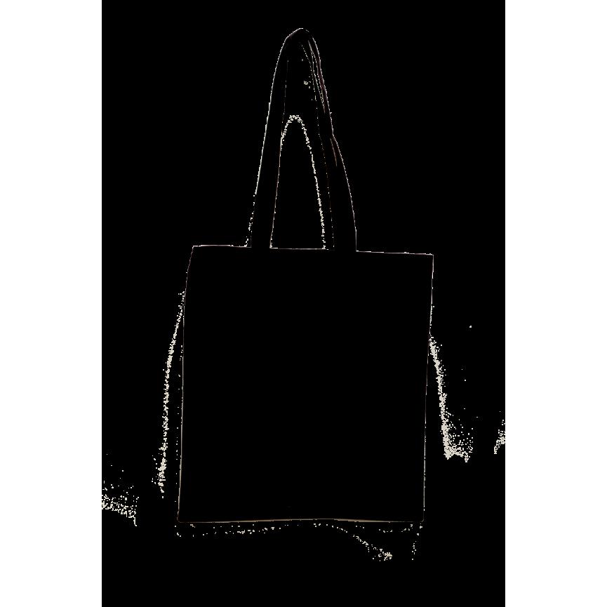 EKO TORBA NA ZAKUPY bawełniana CZARNA rozmiar 38x42cm z długimi rączkami
