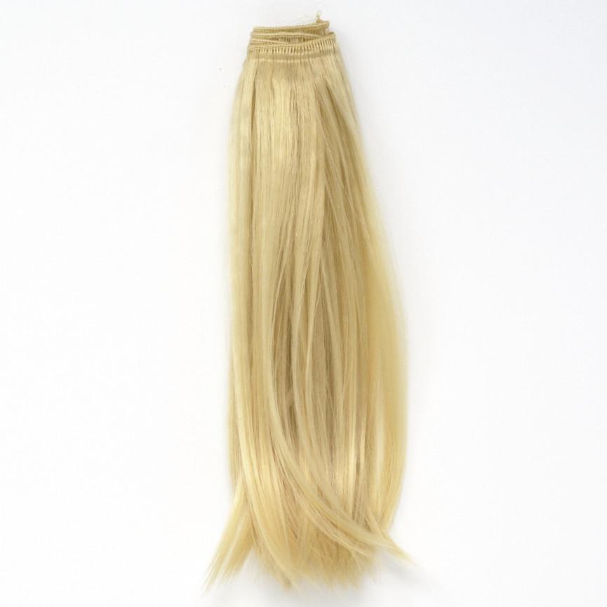 LODOWY BLOND Podwinięte DŁUGIE 25cm Włosy