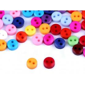 Guziczki mini 5mm - mix kolorów - 60szt