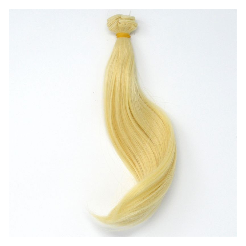 BLOND Lodowy (29) - Super podwinięte 15cm - Włosy do Lalek