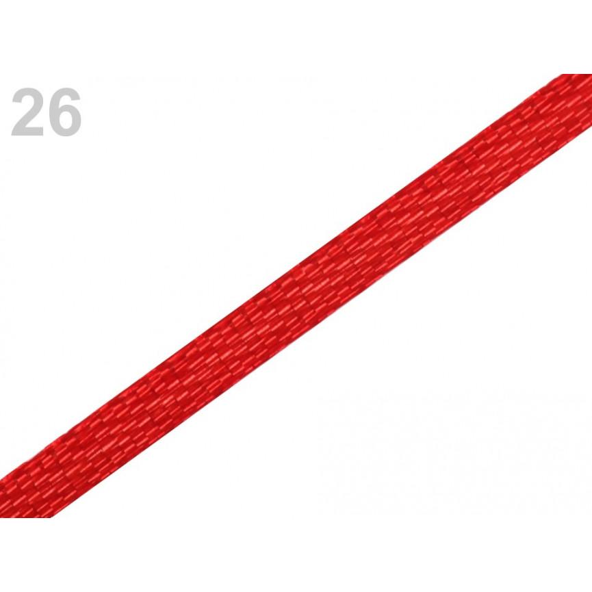 Wstążka satynowa 3mm - CZERWONA - 30mb