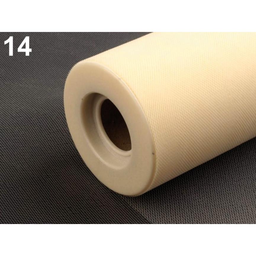 Tiul dekoracyjny 15cm szerokości - JASNY ZIELONY - 1mb