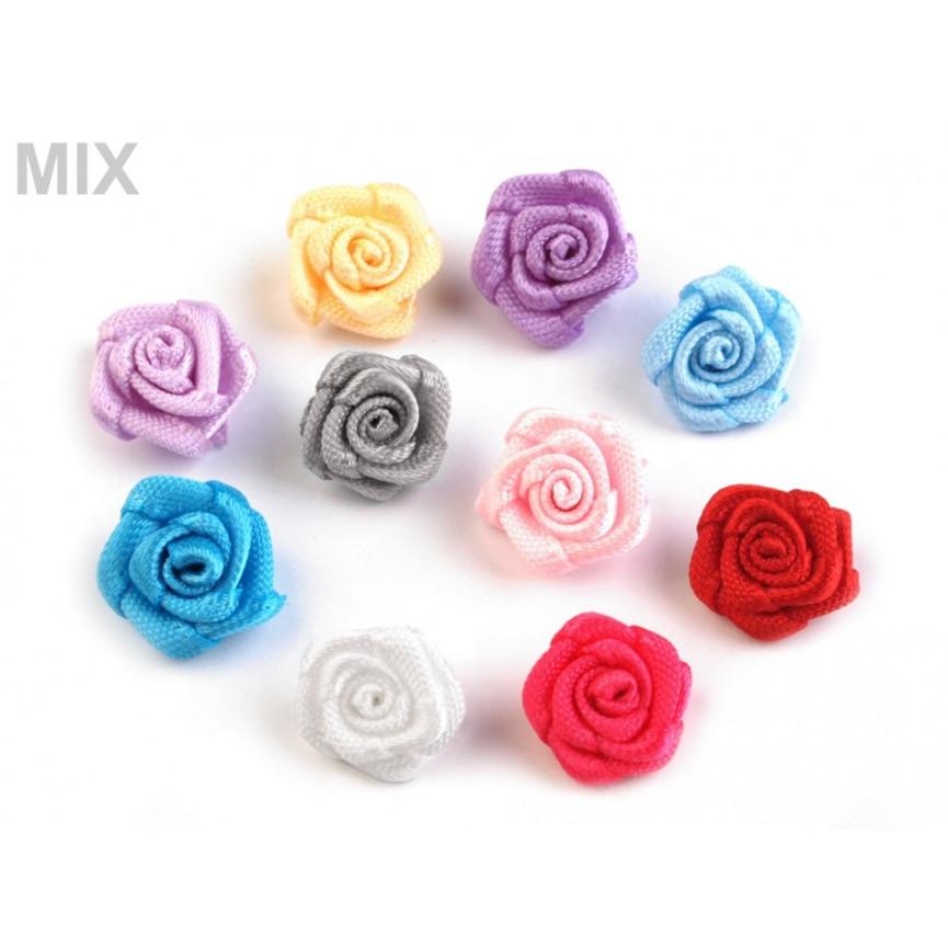 Różyczki 10mm satynowe - MIX - 10szt