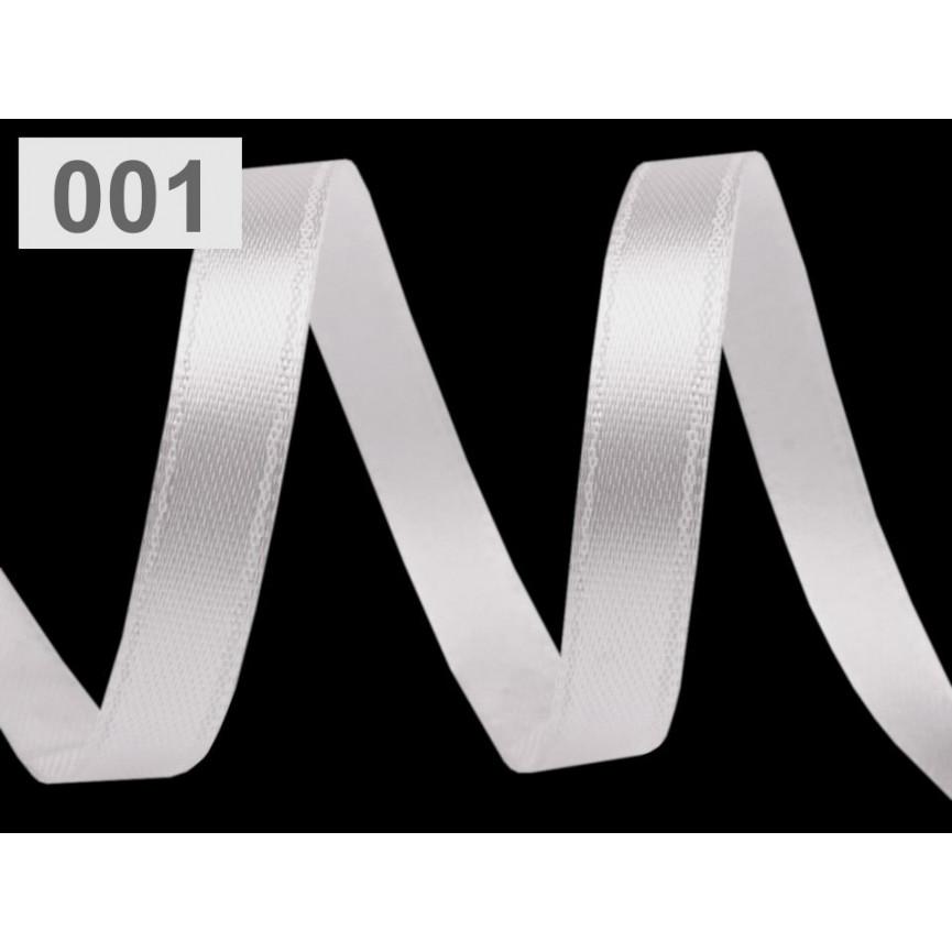 Wstążka satynowa wąska, 6mm - BIAŁA - 30mb