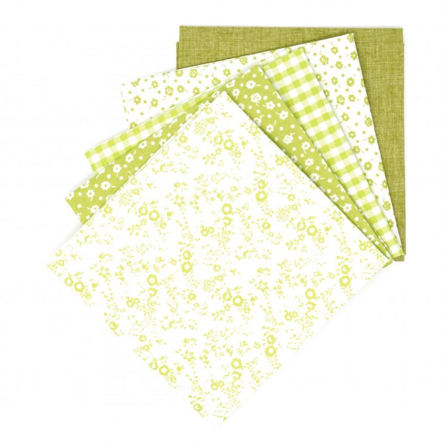 Bawełna wzorzysta - zestaw zielony (1szt)