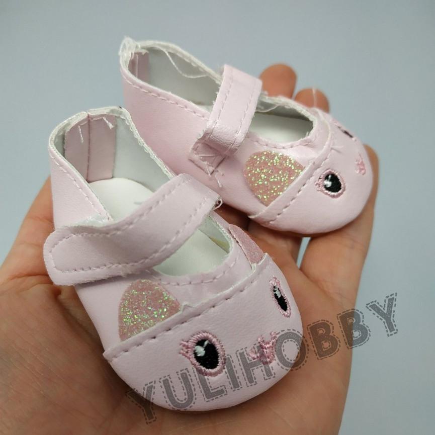 RÓŻOWE - Pantofle kociaki 7cm - Buty Dla Lalek