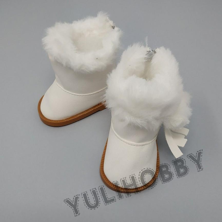 BIAŁE - Śniegowce 7cm - Buty Dla Lalek