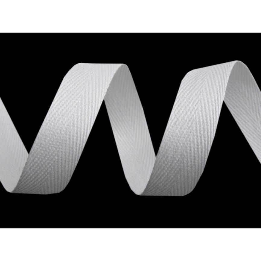 Wstążka bawełniana 14mm - Biała