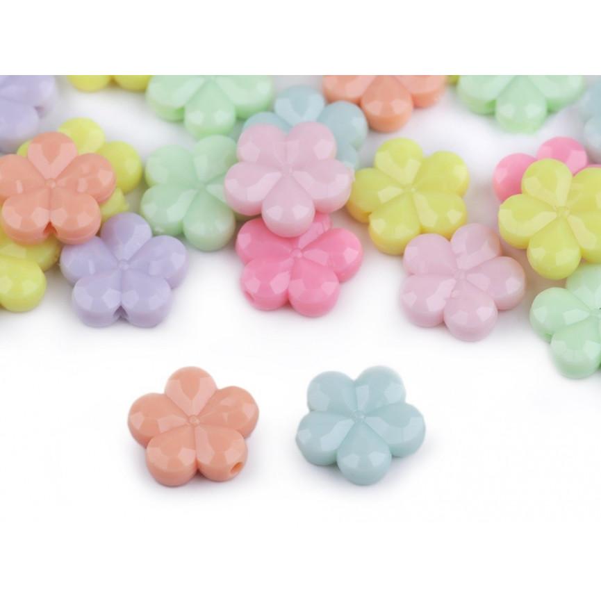 Kwiatki koraliki do przewlekania– 15mm ~35szt.