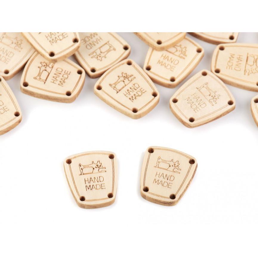 HANDMADE TABLICZKI drewniane, metki 17X20mm - 10szt