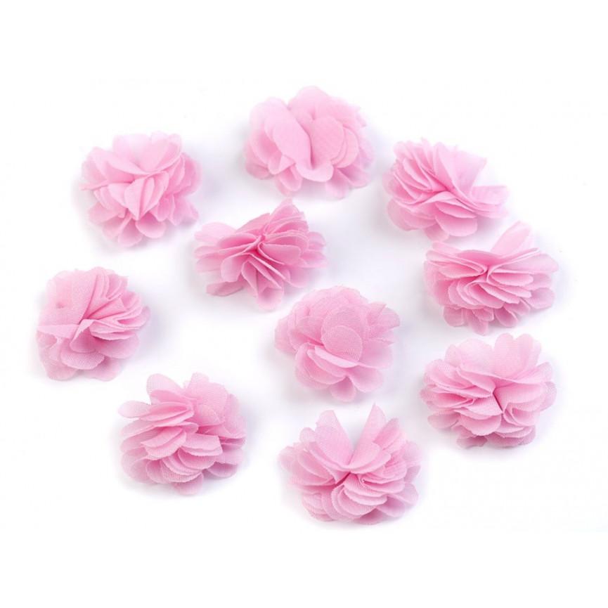 Zwiewne kwiatki 30mm MOCNY RÓŻ - 10szt