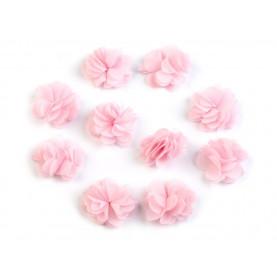 Zwiewne kwiatki 30mm RÓŻ - 10szt