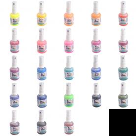 Farby do tkanin w sprayu - 24 kolory