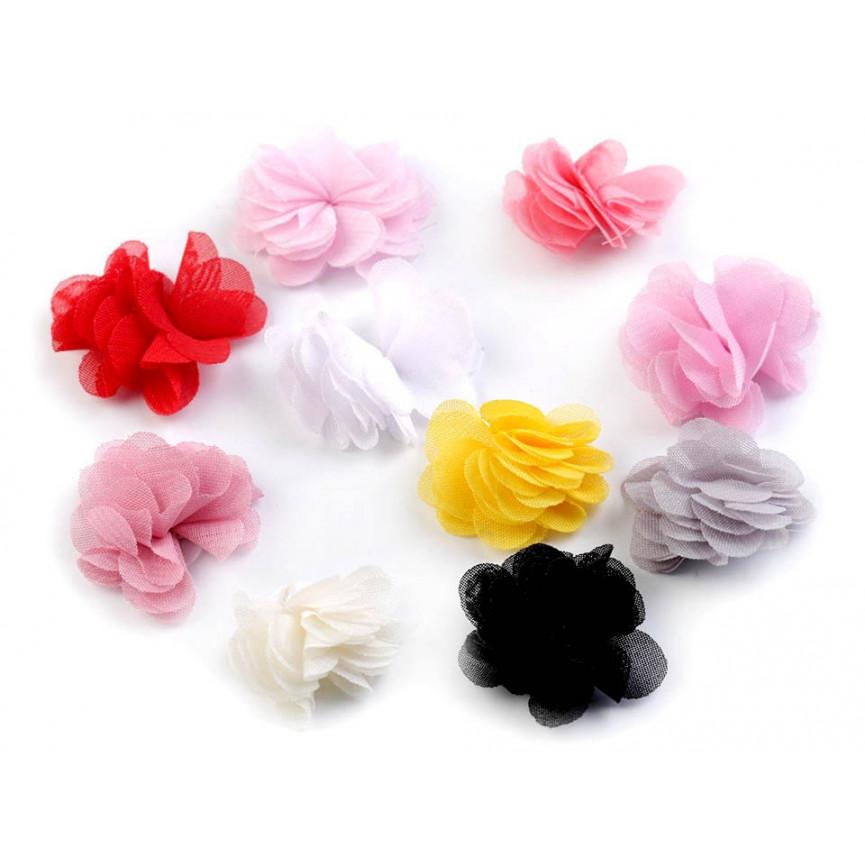 Zwiewne kwiatki 30mm CIEMNY ZIELEŃ - 10szt