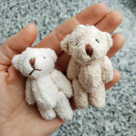 Miś JASNY BRĄZOWY dla lalki - 6cm