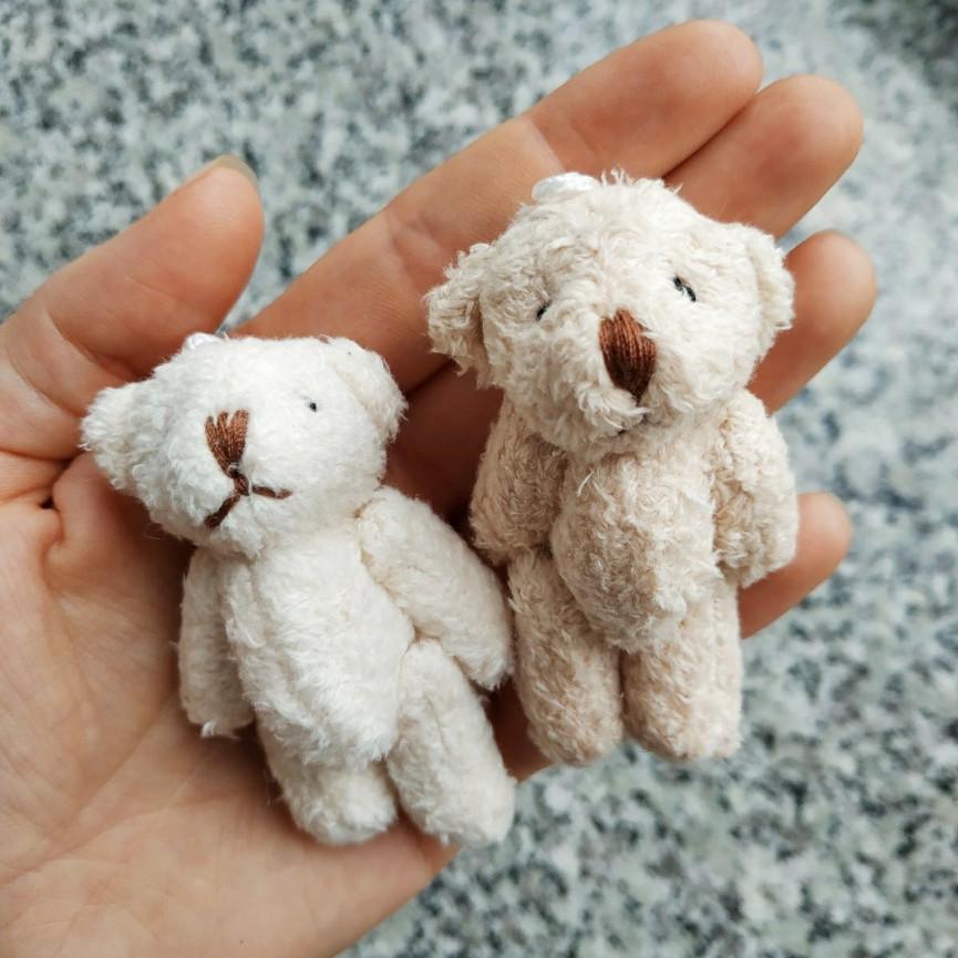 Miś BEŻOWY dla lalki - 6cm