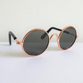 Okulary dla lalek i misiów- Czarne