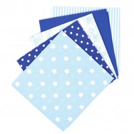 Bawełna wzorzysta - zestaw niebieski