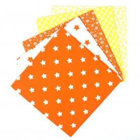 Bawełna wzorzysta - zestaw pomarańczowy (2-3szt)