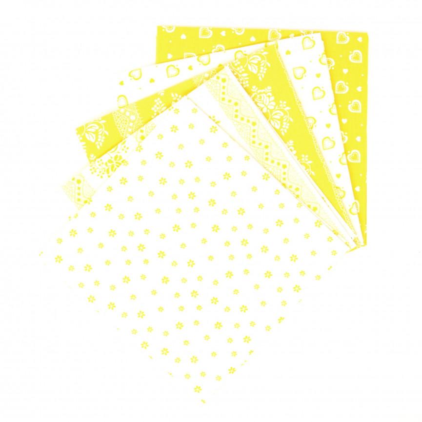 Bawełna wzorzysta - zestaw ciemnozielony