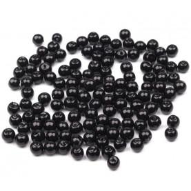 Koraliki szklane czarne 4mm - opakowanie 50g