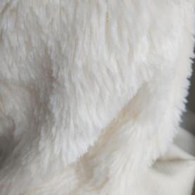 Tkanina Pluszowa - BIAŁY 18mm (sztuczne futro)