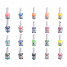 Farby do tkanin w sprayu - 20 kolorów