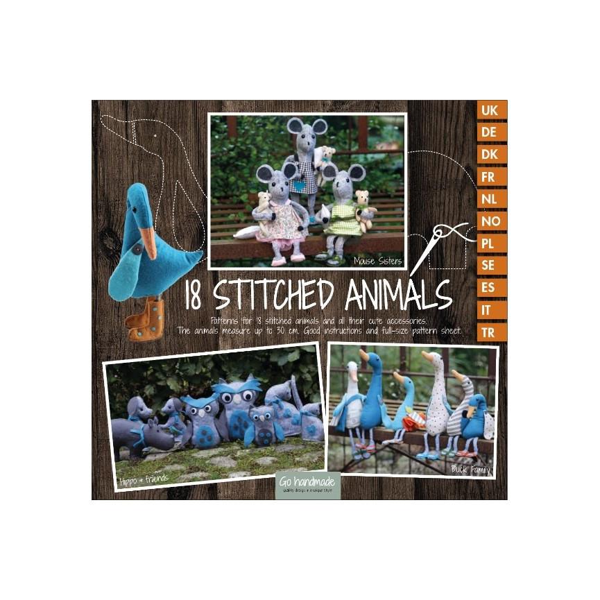 KSIĄŻKA wykroje do szycia zwierzątek (18 wzorów)