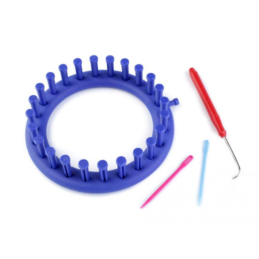 Obręcz dziewiarska 14cm (niebieska)
