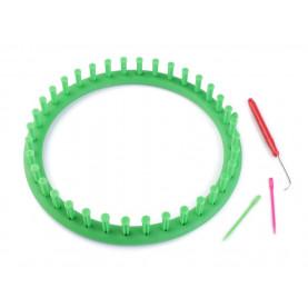 Obręcz dziewiarska 24cm (zielona)