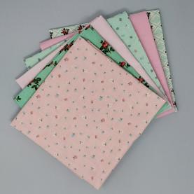 Bawełna wzorzysta - zestaw różowy