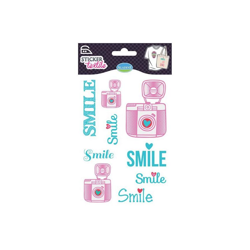 NAPRASOWANKI NA KOSZULKI / naklejki - smile - 5 SZTUK
