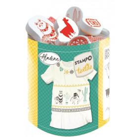 STEMPLE DO TKANIN - Lamy / malowanie na tkaninie