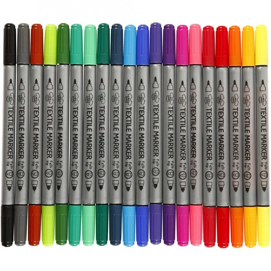 Markery do tkanin - 20 kolorów