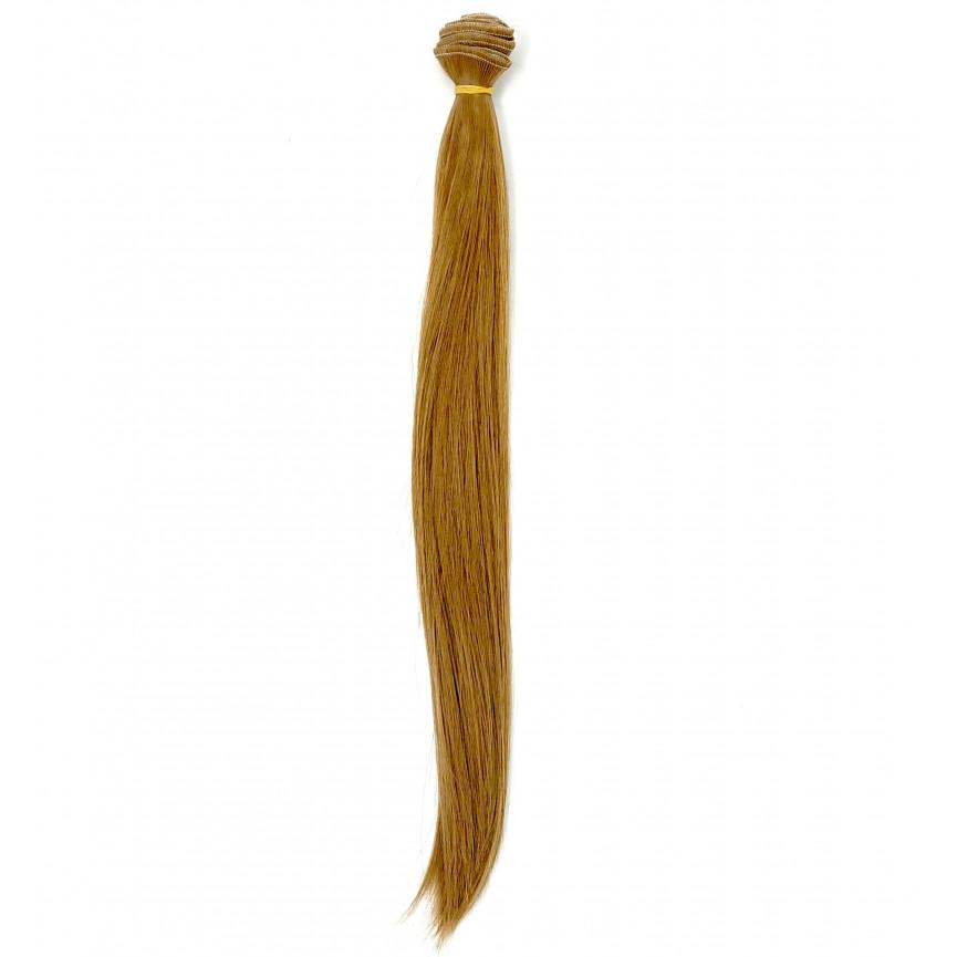 BRĄZ CIEPŁY - Proste 35cm - Włosy Do Lalek