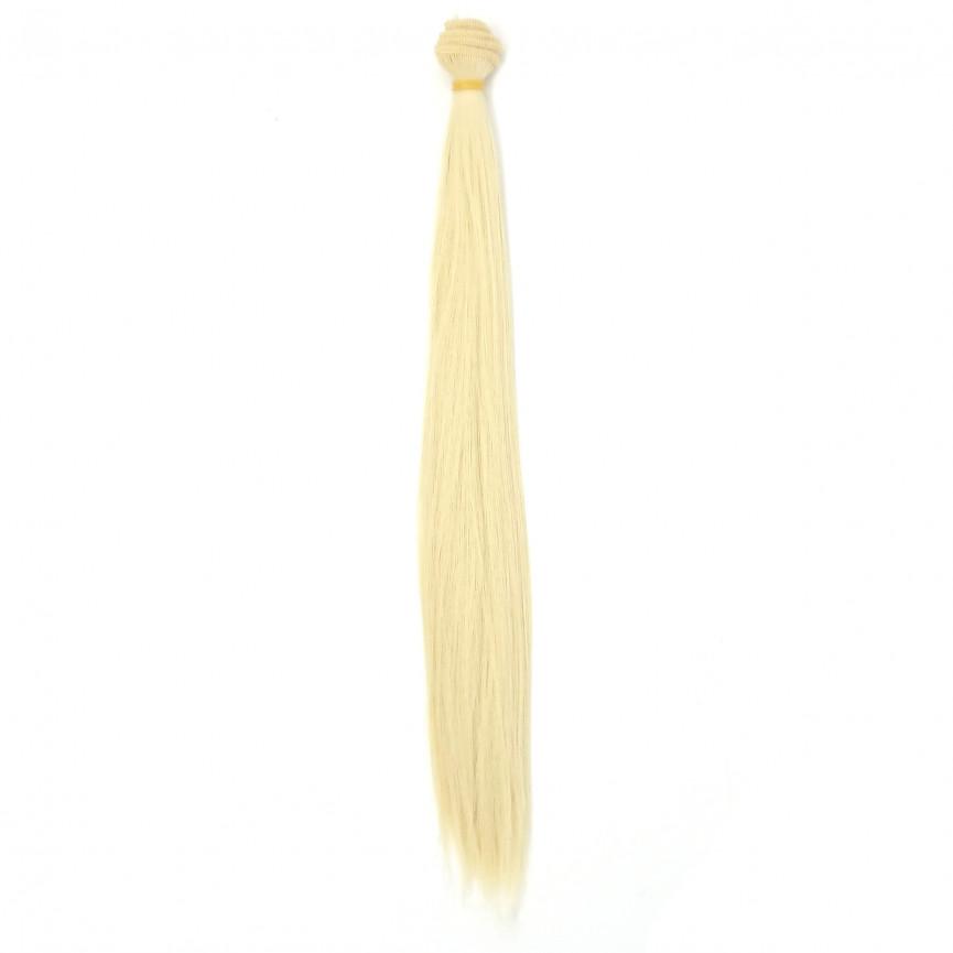 BLOND LODOWY - Proste 35cm - Włosy Do Lalek