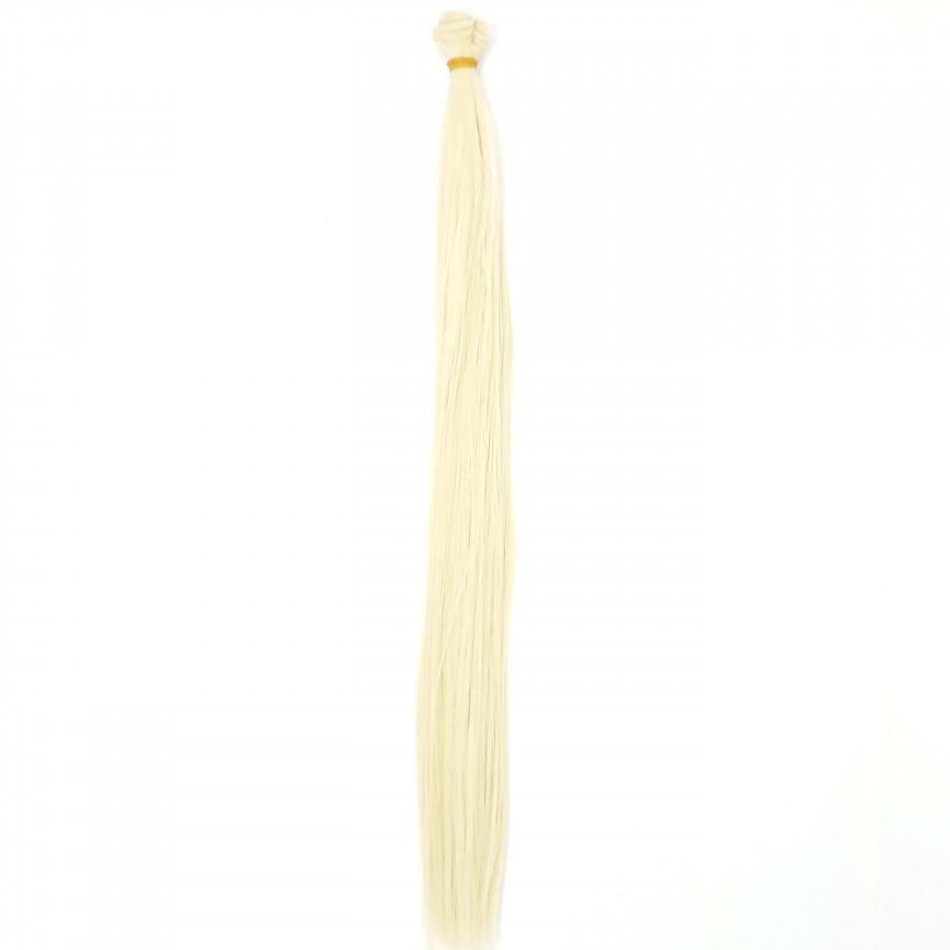 LODOWY BLOND - Proste Najdłuższe 50cm - Włosy Do Lalek