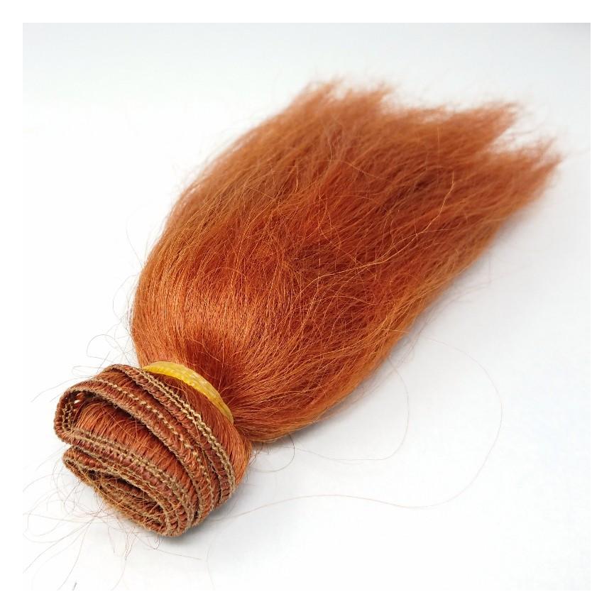 Włosy moherowe dla lalek 15cm - RUDE