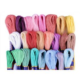Zestaw mulin kolorowych MIX1 - 24 kolory po 8m
