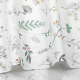Bawełna wzorzysta - zestaw 8 szt. zielony z roślinami