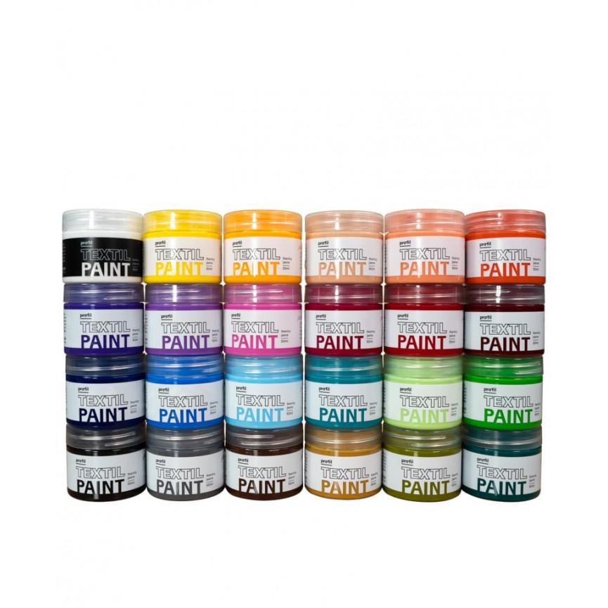 Zestaw Farb Do Tkanin WYPAS JASNY - 24 kolory x 50ml